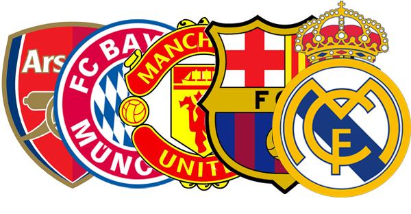 logo kelab bola sepak ternama dunia