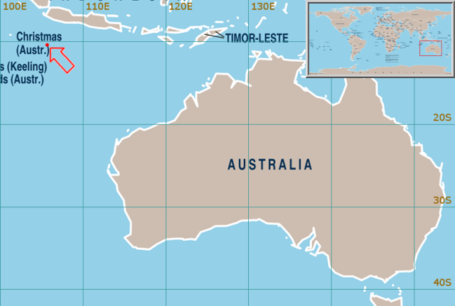 lokasi christmas island australia