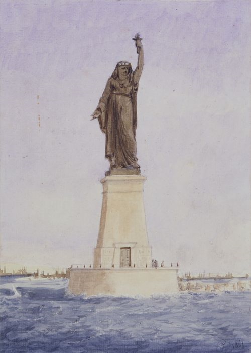 lukisan asal statue of liberty