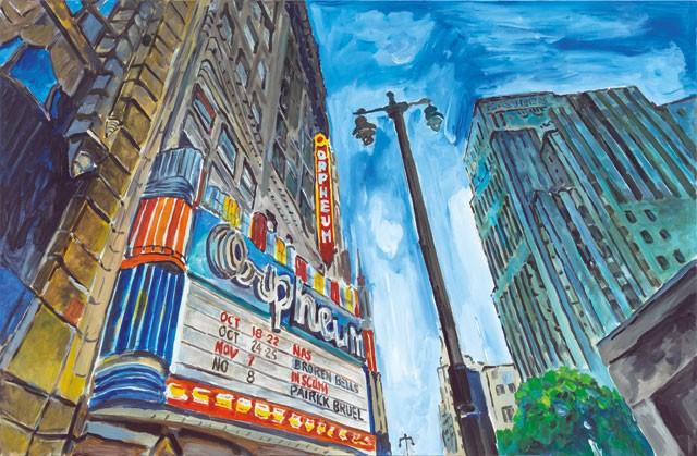 lukisan bandar di amerika oleh bob dylan