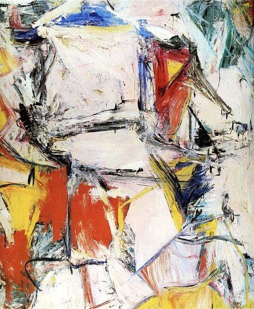 lukisan interchange oleh willem de kooning