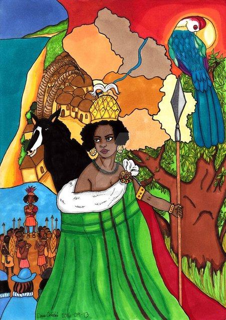 lukisan ratu nzinga