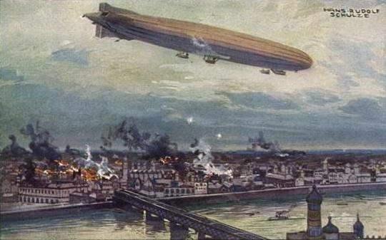 lz 1 zeppelin mengebom bandar london