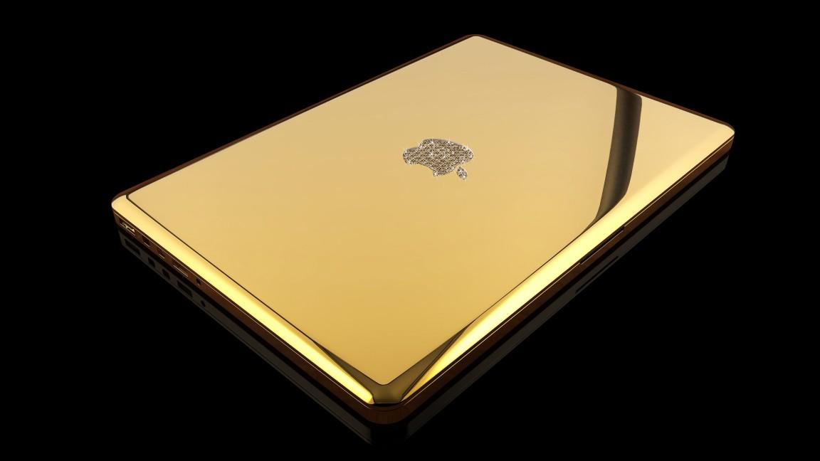 macbook pro 24 karat gold laptop paling mahal di dunia 2