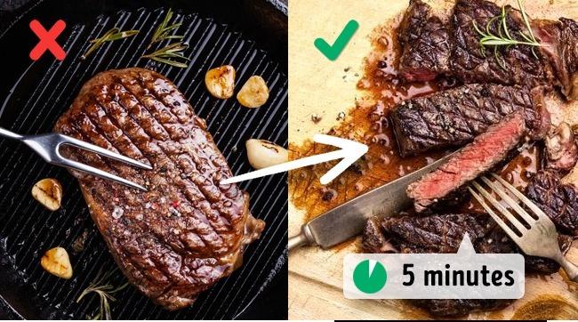 makan daging selepas masak