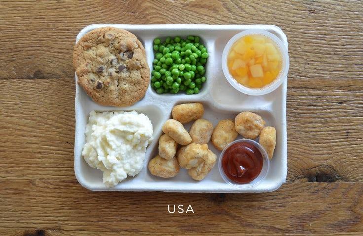 makanan waktu rehat pelajar sekolah di seluruh dunia amerika