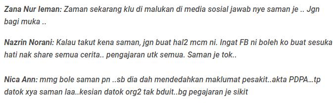 maklumat peribadi didedahkan datuk red berang netizen minta saman 3
