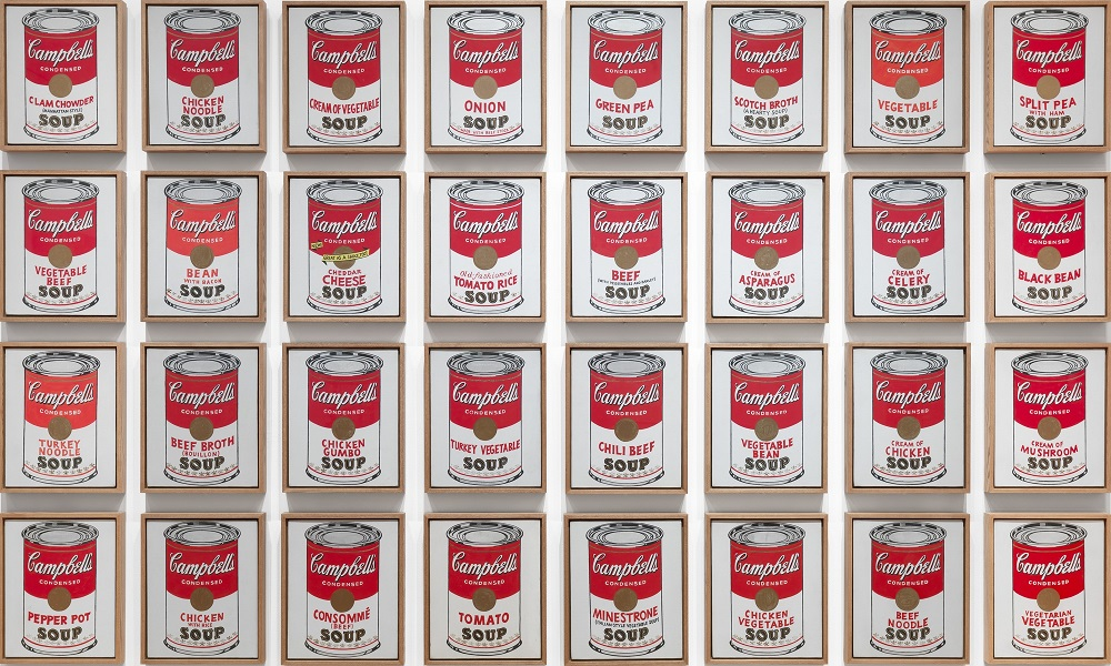 maksud lukisan campbell s soup cans oleh andy warhol
