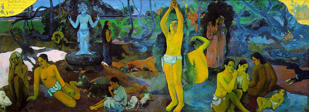 maksud lukisan where do we come from what are we where are we going oleh paul gauguin