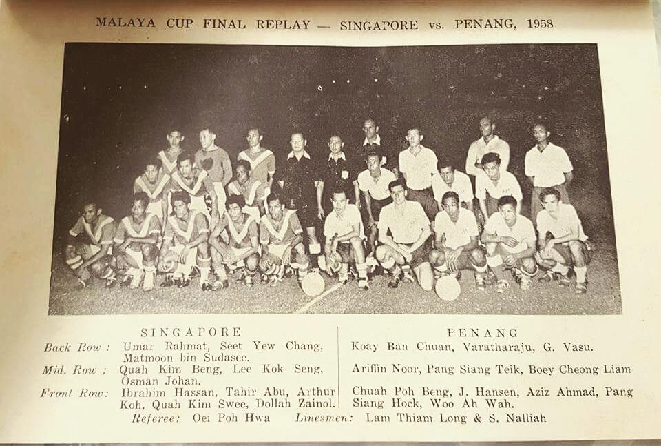 malaya cup 1958 singapura vs penang
