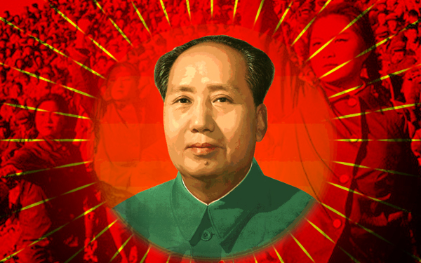 mao zedong with girls