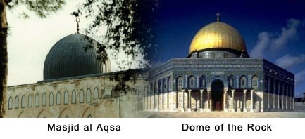masjid al aqsa dan dome of the rock
