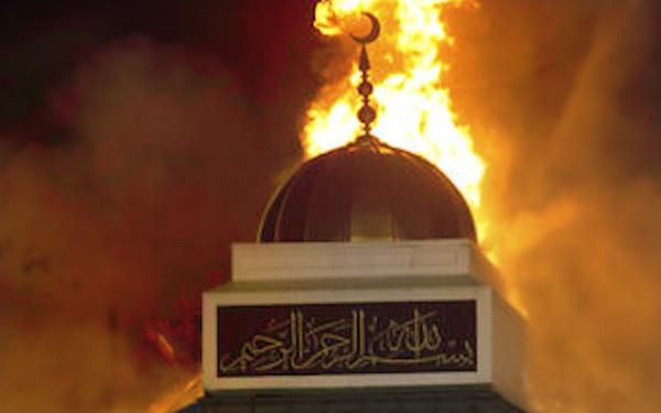 masjid terbakar di texas