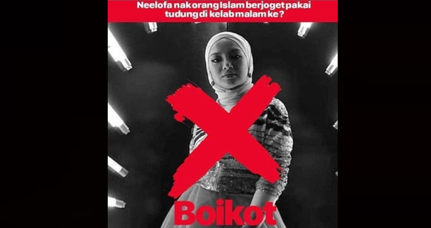 masyarakat lancar kempen boikot nealofarhijab