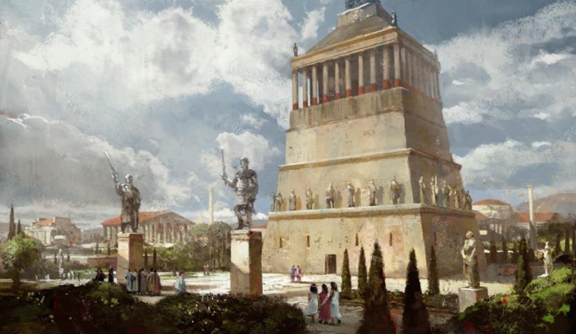 mausoleum of halicarnassus keajaiban dunia seven wonders