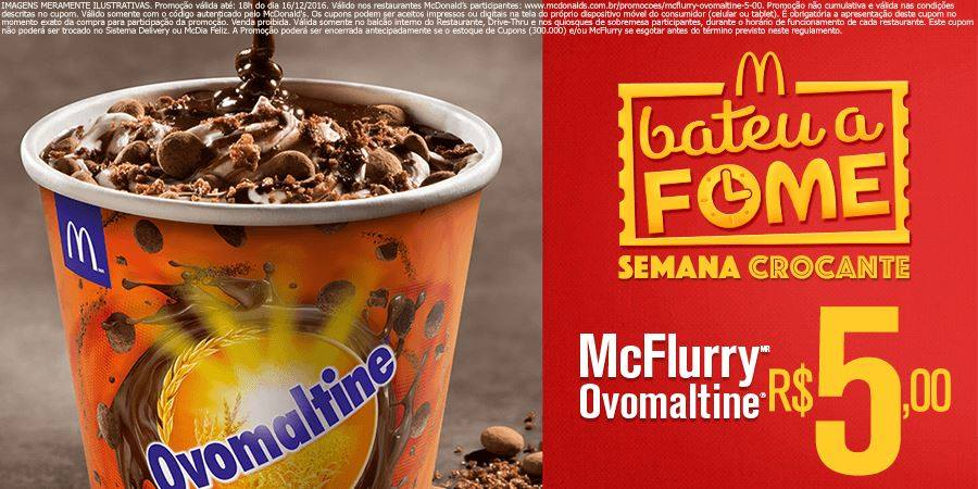mcflurry ovomaltine