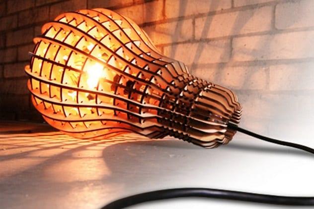 mentol lampul kayu