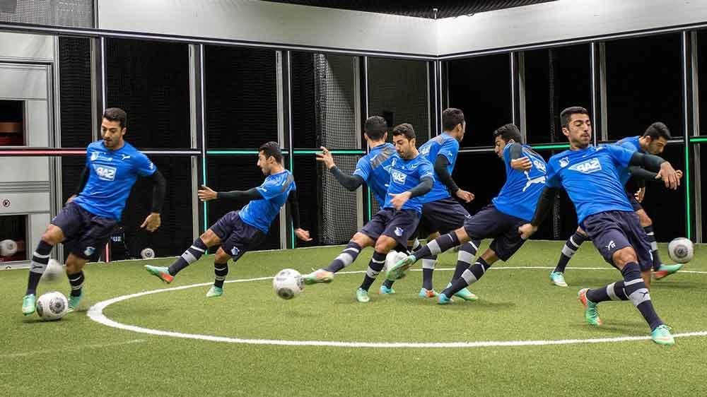 mesin footbonaut melatih pemain