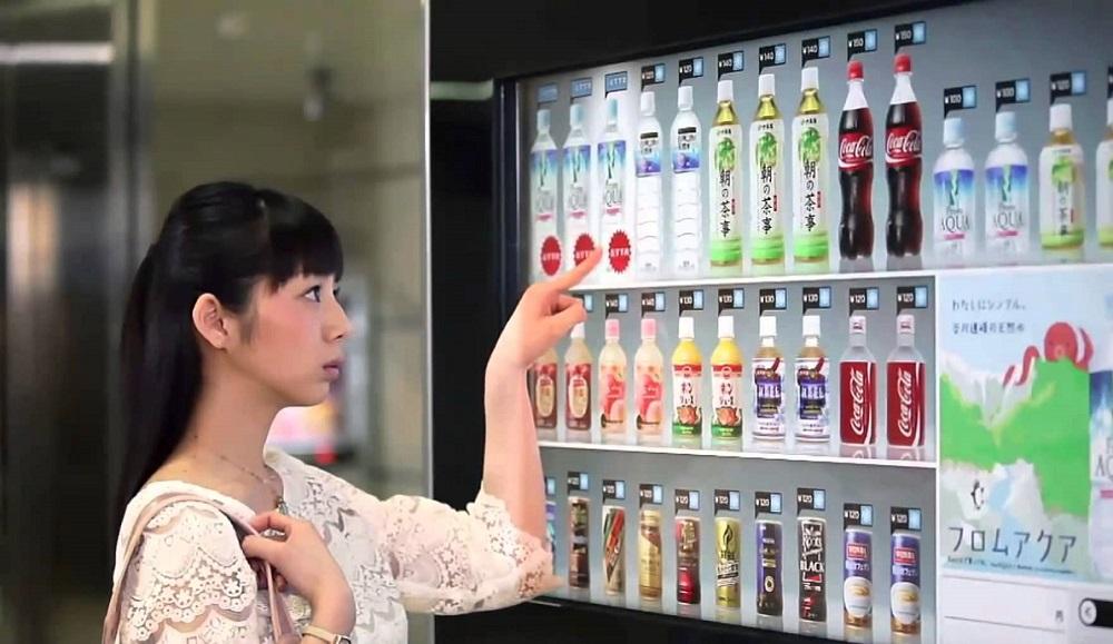 mesin layan diri jepun pelbagai jenis dan jual pelbagai barang
