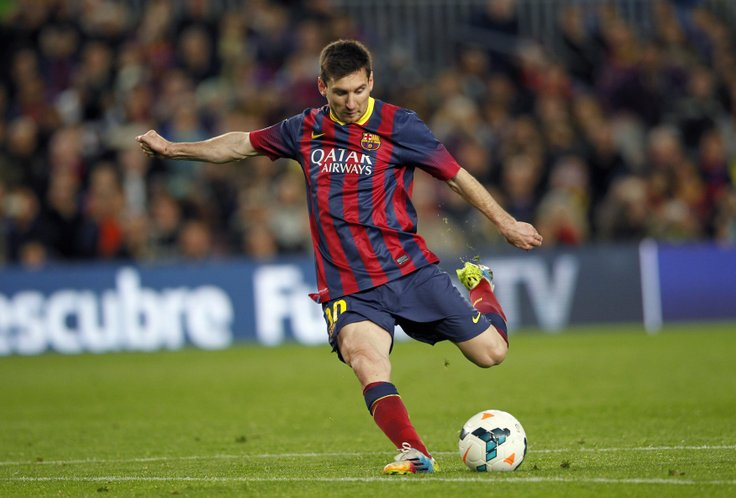messi shooting