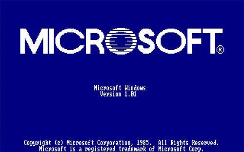 microsoft versi 1 1985