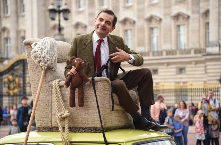 mr bean rowan atkinson drives around london celebrate 25 years comedy character