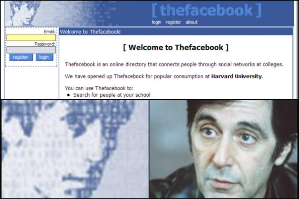 muka al pacino pada homepage asal facebook