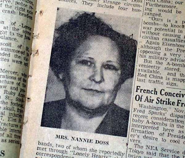 nannie doss di dalam surat khabar