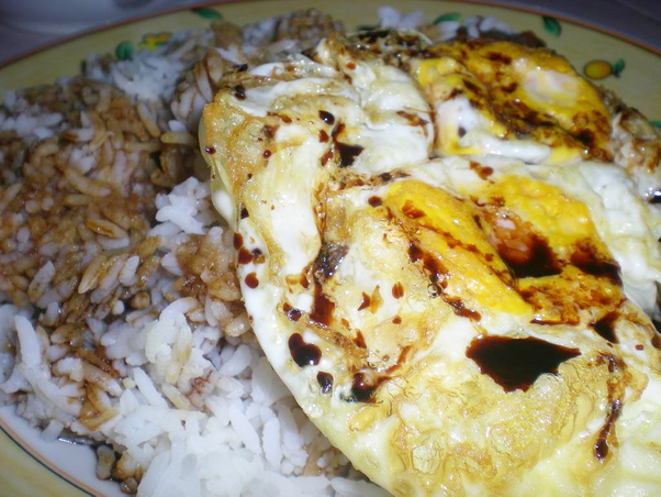 nasi kicap telur goreng