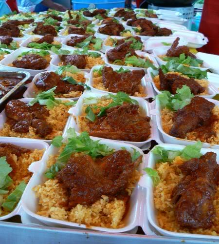 nasi tomato kombo pilihan ramai pengunjung pasar ramadhan