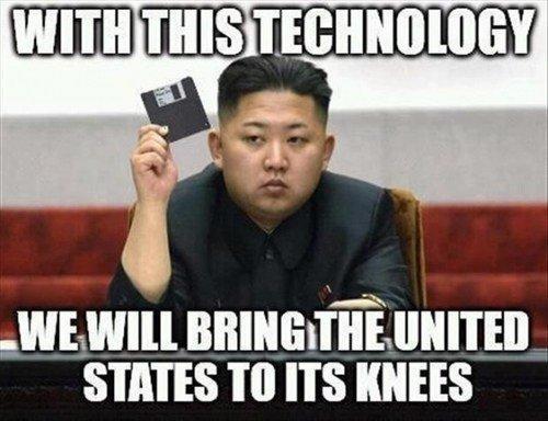 negara korea utara nampaknya masih menggunakan disket