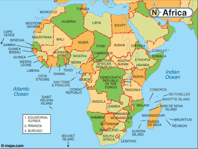 negara negara afrika
