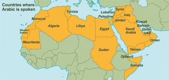 negara yang menggunakan bahasa arab