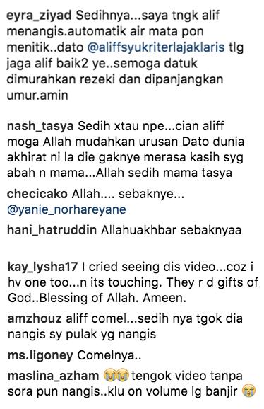 netizen menitis air mata tonton video terbaru datuk aliff syukri 3