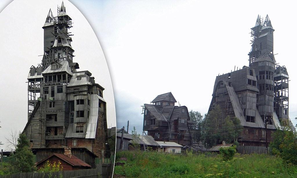 nikolai sutyagin orang kaya bina rumah kayu kabin paling tinggi