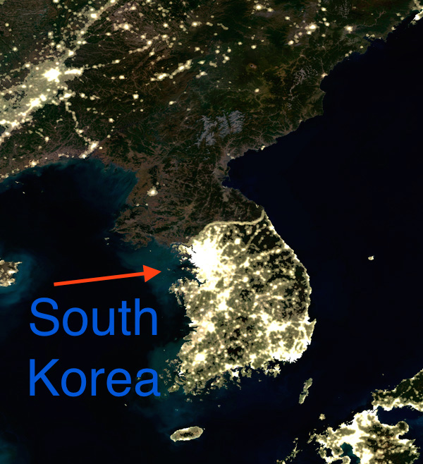 north south korea