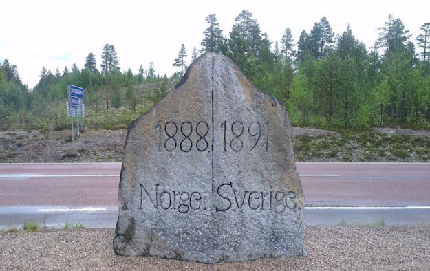 norway sweden rock border