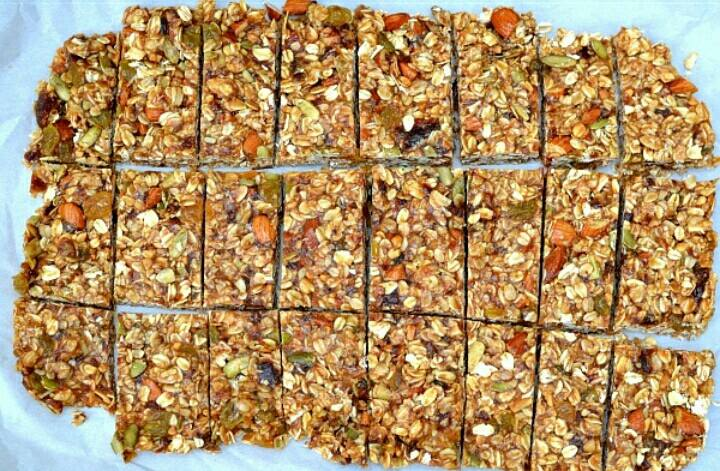 nuts bar atau granola bar homemade