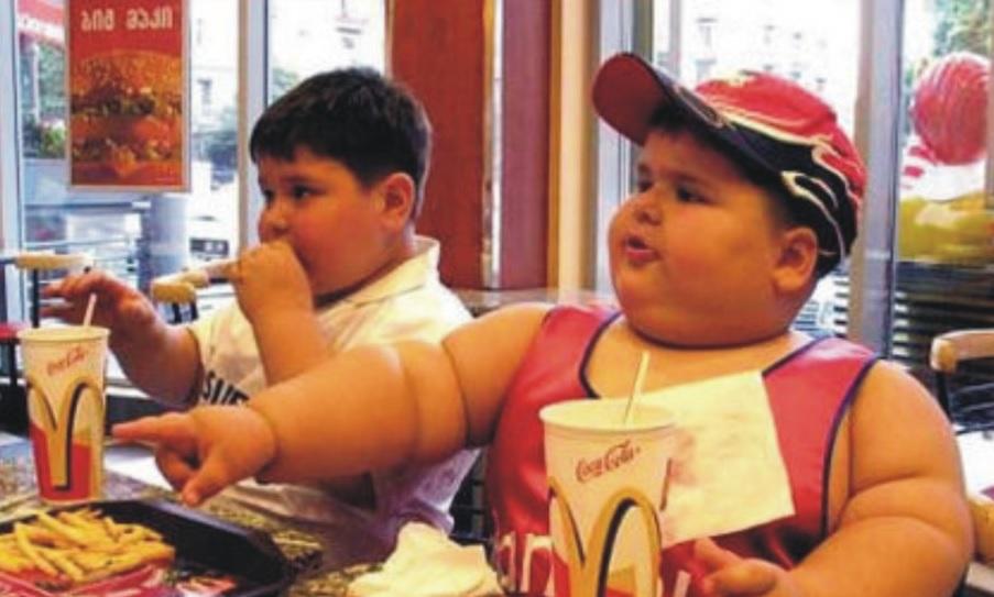 obese mcdonald kid