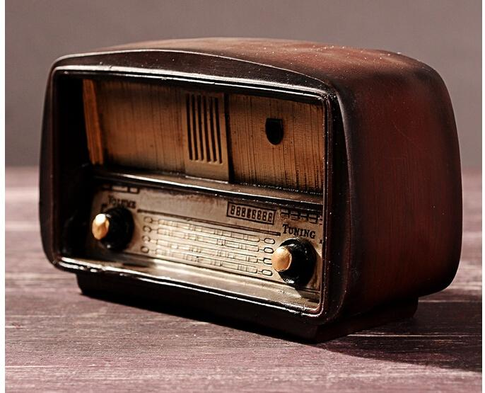 old radio vintage resin craft for home decor for bar hotel villa c24150169