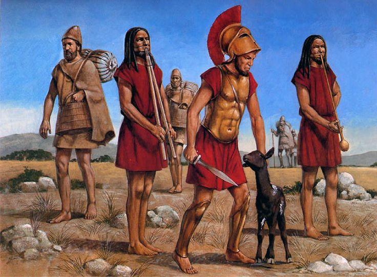 orang sparta ilustrasi