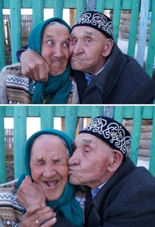 orang tua selfie