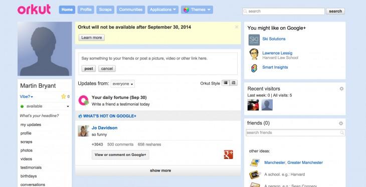 orkut rangkaian media sosial yang menemui kegagalan 2