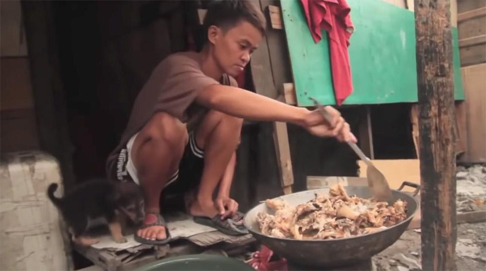 pagpag makanan sisa sampah filipina lebihan makanan terbuang hidangan 4
