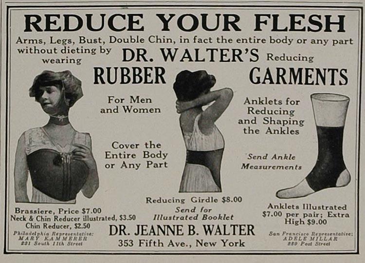 pakaian getah teknik diet ekstrem menguruskan badan