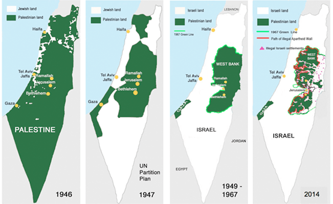 palestine map one state