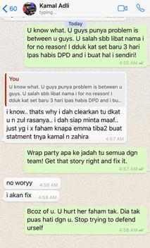 panas zahirah macwilson tayang foto perbualan whatsapp dengan kamal adli 7