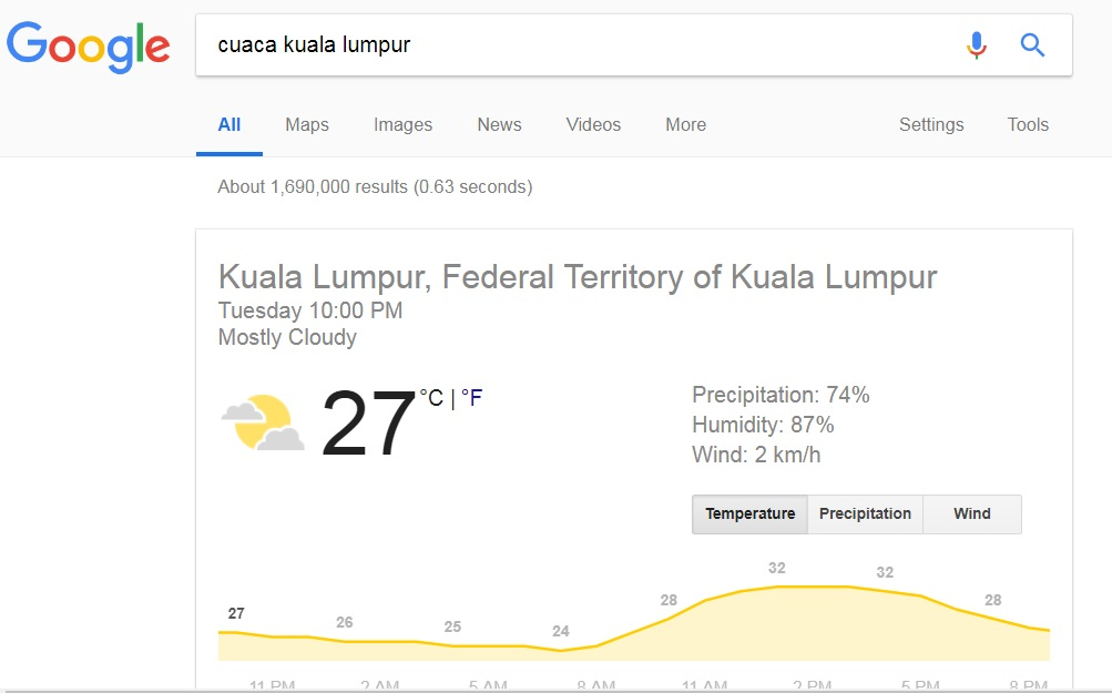 panduan menggunakan google dengan lebih berkesan widget cuaca