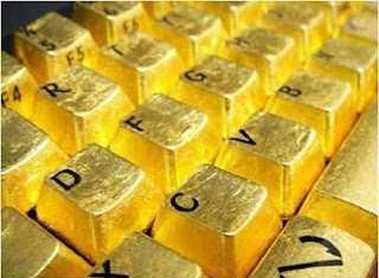 papan kekunci emas 7 item pelik yang dihasilkan dan disalut emas 6