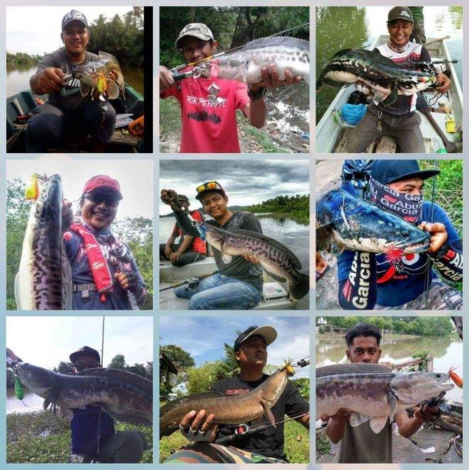para pemancing yang berjaya mendaratkan ikan